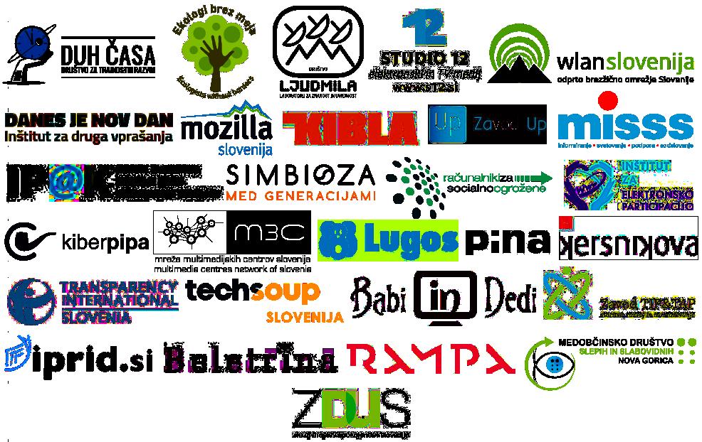 Logotipi soorganizatorji Dan VID 2018